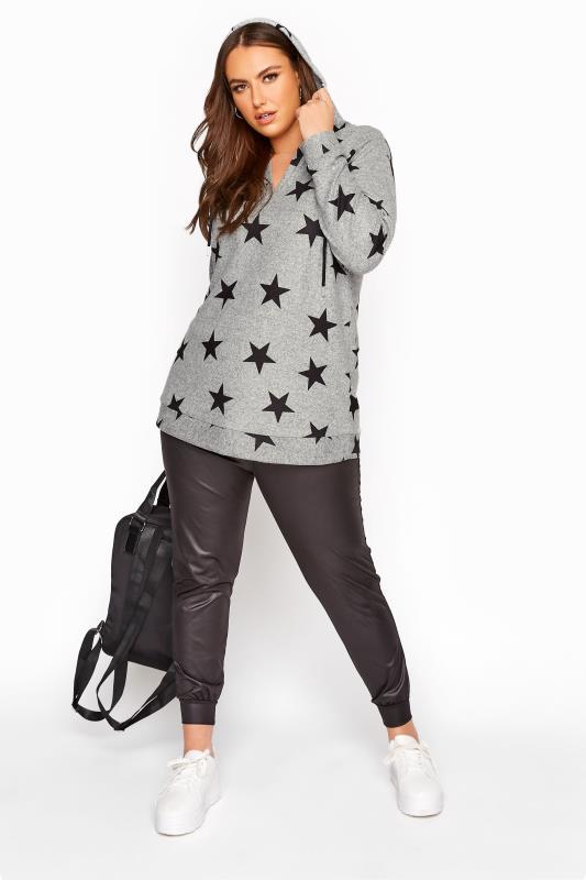 Grey Star Jersey Hoodie