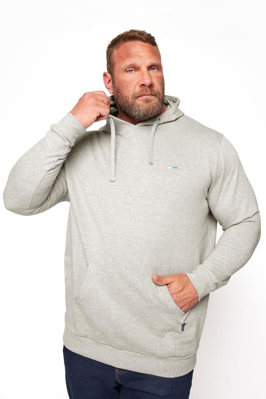 Men's Casual / Every Day BadRhino Grey Marl Essential Hoodie
