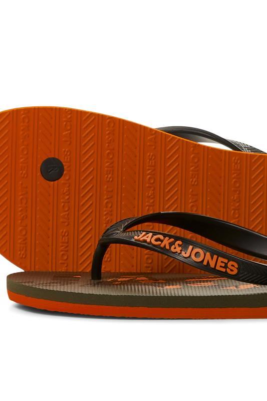 JACK & JONES Khaki Logo Flip Flops