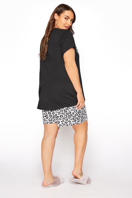 Black Leopard Print Heart Pyjama Shorts Set_C.jpg