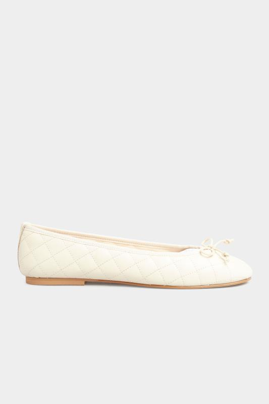 LTS White Leather Quilted Ballet Pumps_B.jpg