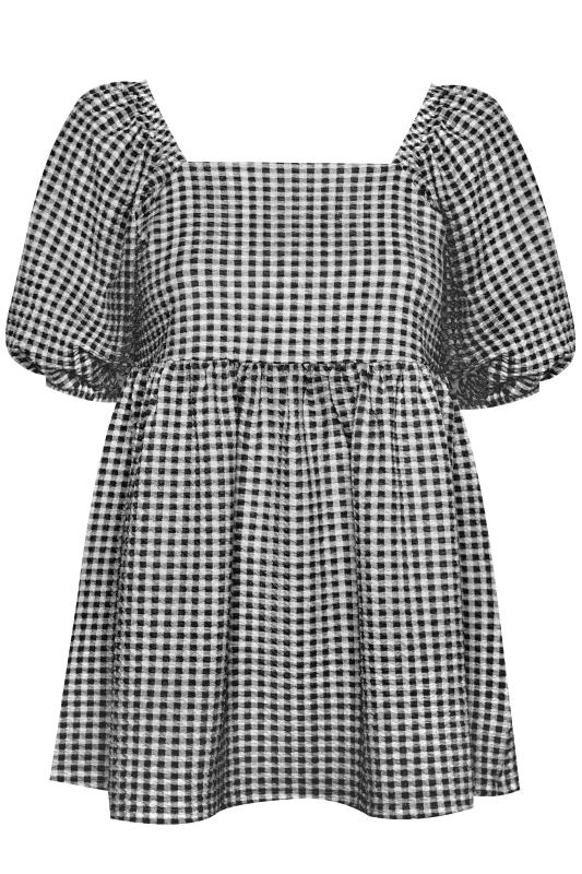 LIMITED COLLECTION Black Gingham Milkmaid Top_F.jpg