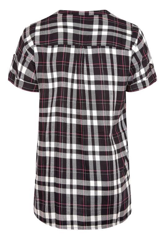 Black Grown On Sleeve Check Shirt_BK.jpg