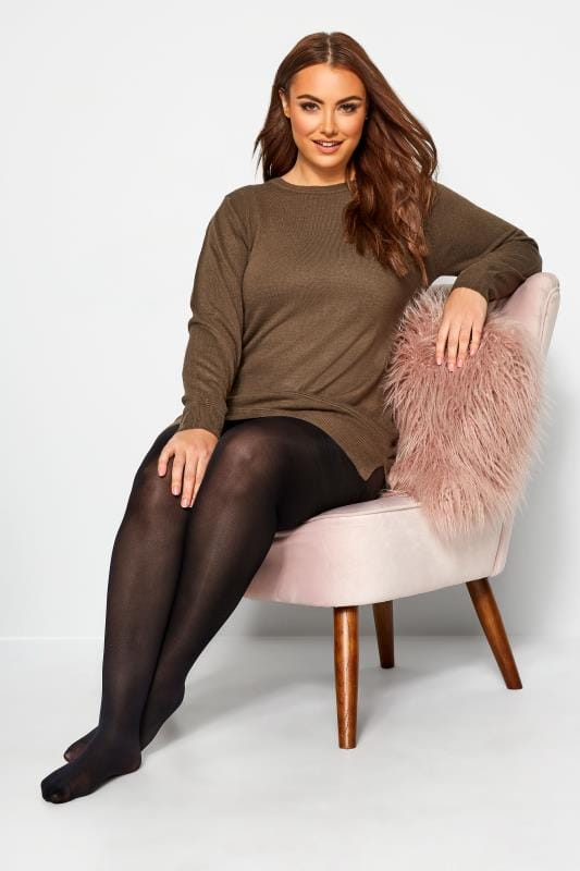 Plus Size Hosiery / Tights SUSTAINABLE 80 Denier Recycled Tights