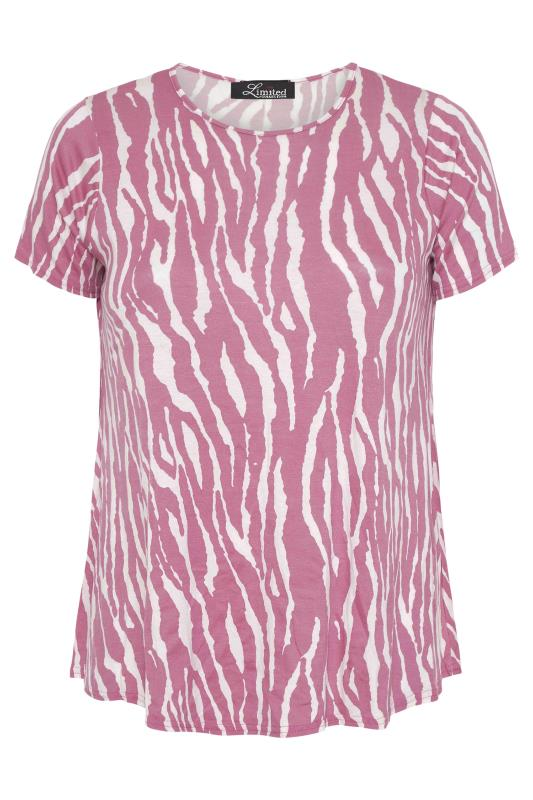 LIMITED COLLECTION Pink Zebra Print Swing Top_F.jpg