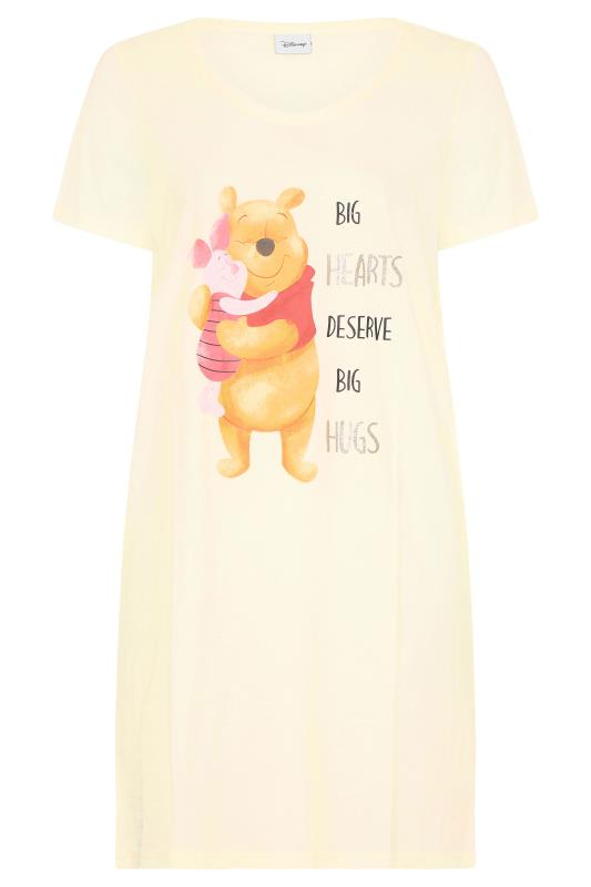 DISNEY Lemon Yellow Winnie and Piglet Hugs Dipped Hem Nightdress_F.jpg