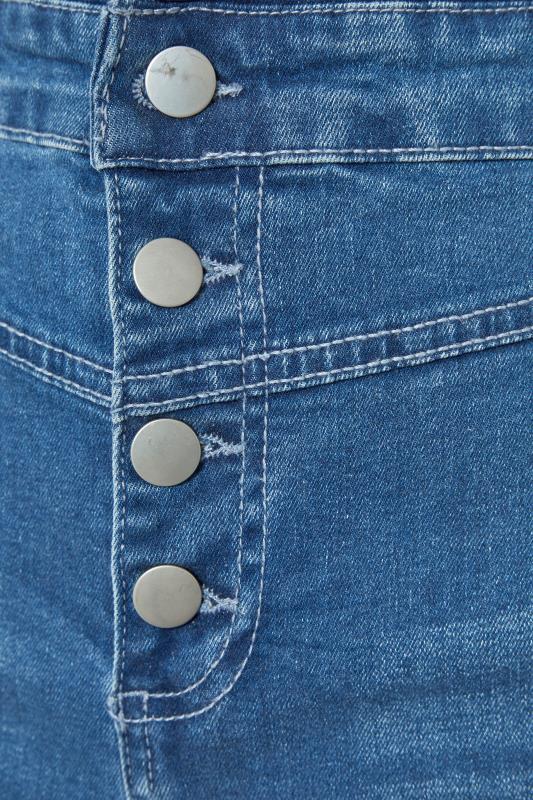 Mid Blue Corset High Waist Denim Shorts_s.jpg