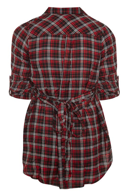 LIMITED COLLECTION Red Check Belted Shirt_BK.jpg