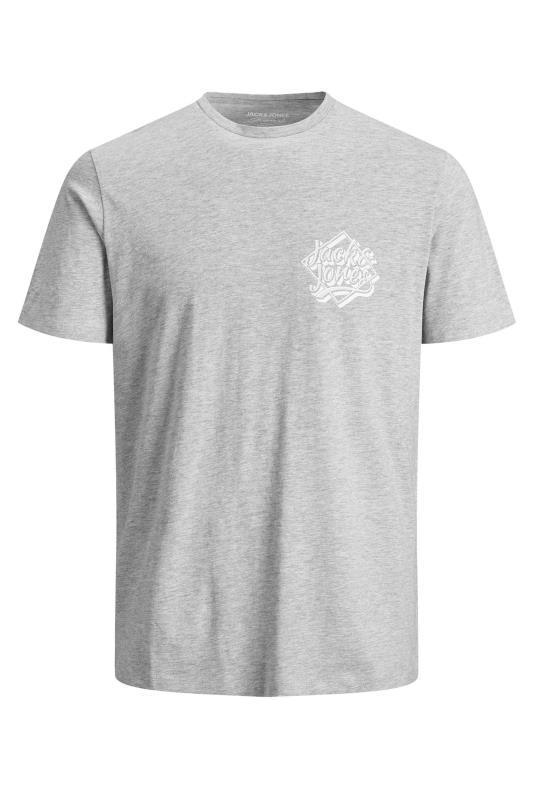 Men's  JACK & JONES Grey Marl T-Shirt