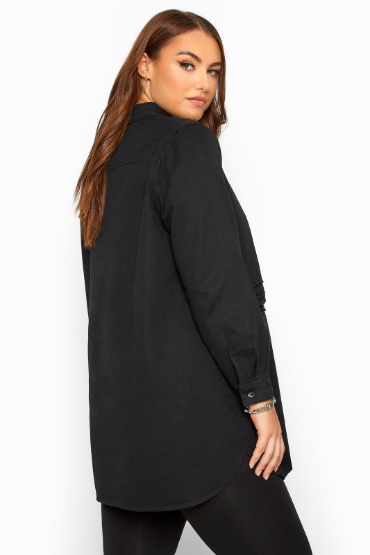 Black Distressed Denim Shirt_D.jpg