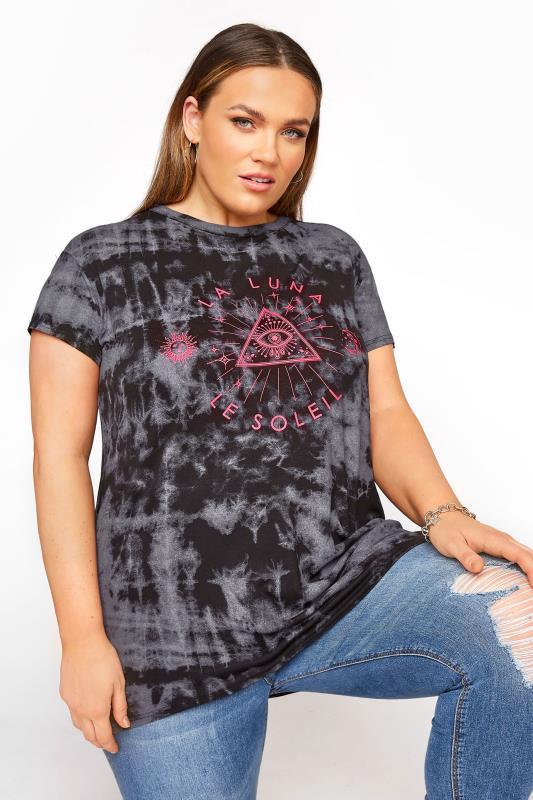 LIMITED COLLECTION Black Grunge Tie Dye Neon T-Shirt