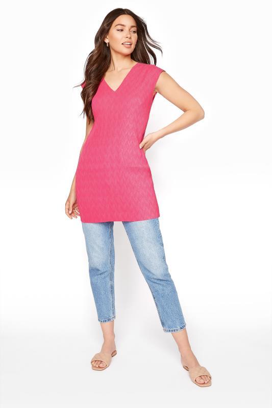 Pink Sleeveless Plisse Tunic_B.jpg