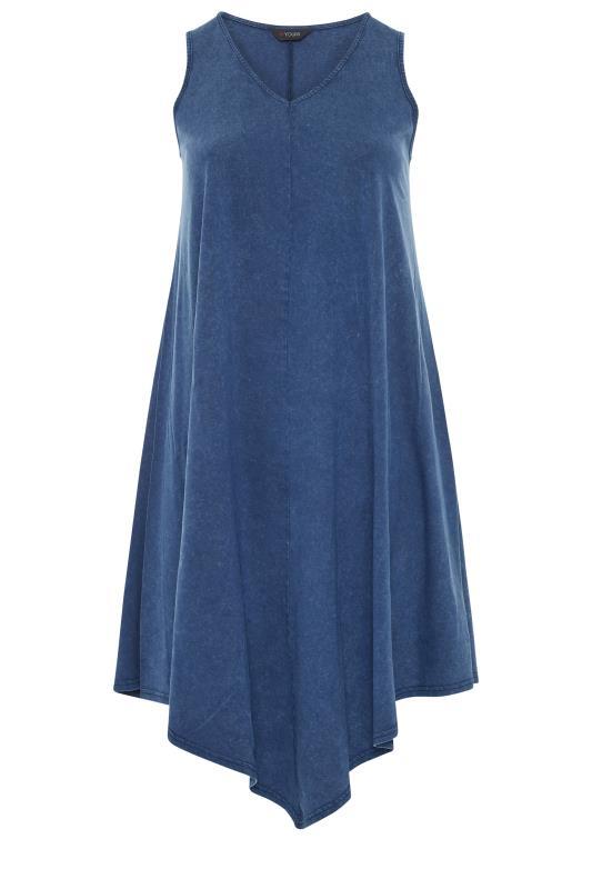 Blue Acid Wash Hanky Hem Sleeveless Dress_f.jpg