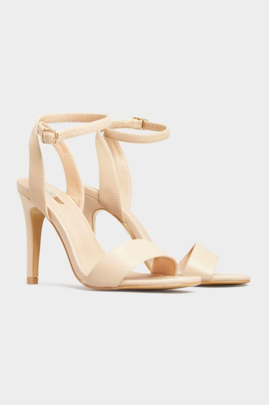 LIMITED COLLECTION Nude Strappy Two Part Heels In Extra Wide Fit_B.jpg