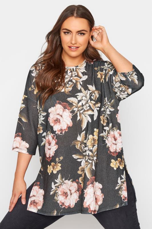 Black Floral Side Split Tunic_A.jpg