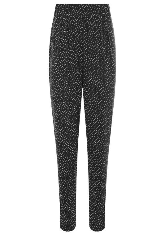 LTS Black Printed Harem Trouser_F.jpg