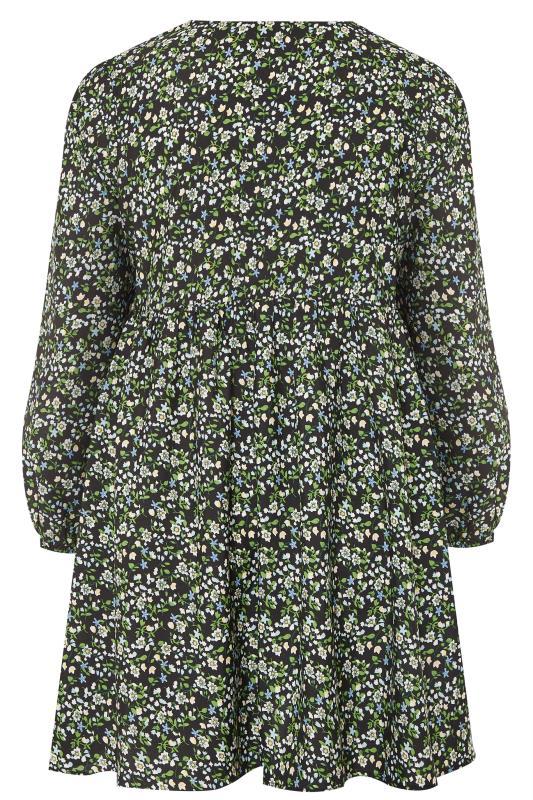 LIMITED COLLECTION Black & Green Ditsy Tea Dress_BK.jpg