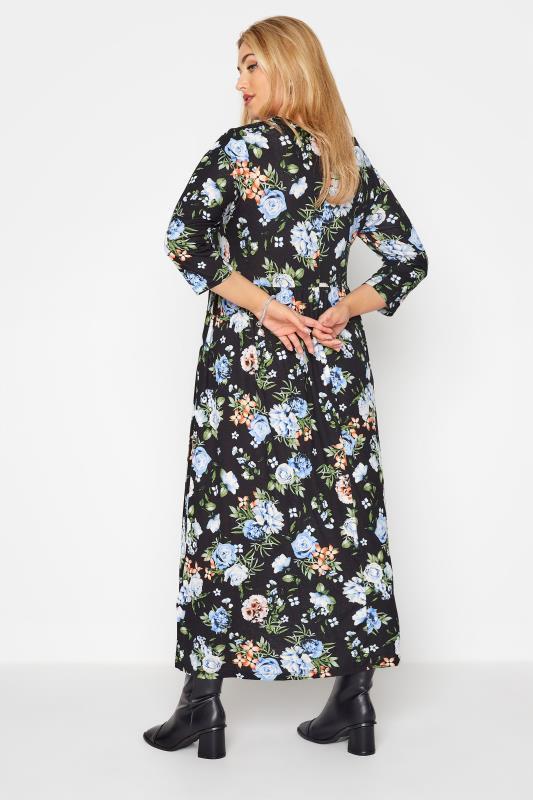 Black Pocket Floral Midaxi Dress_C.jpg