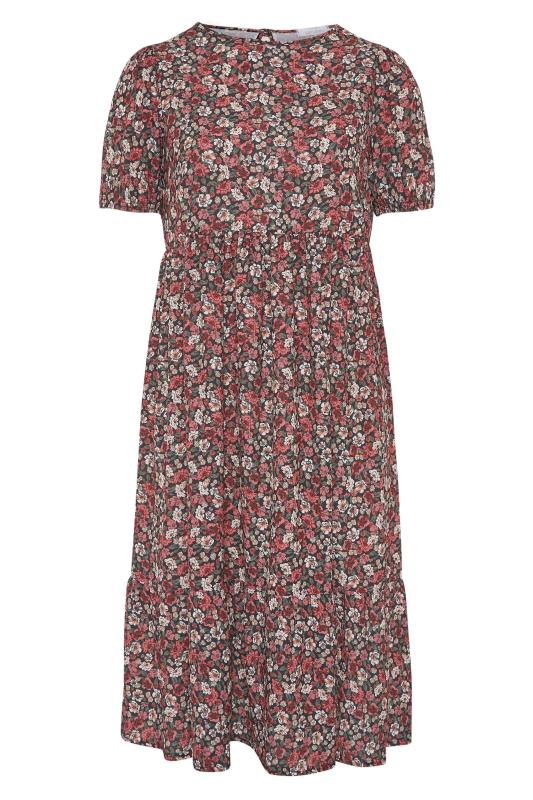 YOURS LONDON Red Ditsy Floral Smock Midi Dress_F.jpg