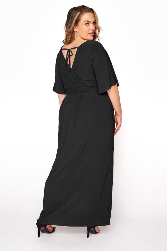 YOURS LONDON Black Wrap Midaxi Dress_C.jpg