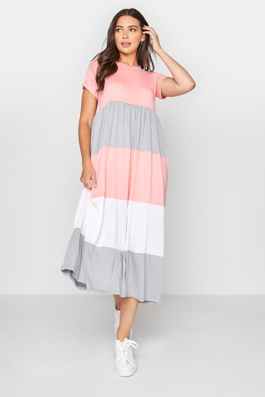 LTS Pink Colour Block Dress_A.jpg