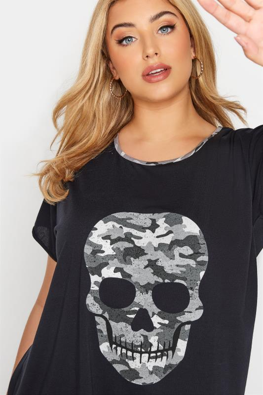 Black Camo Skull Print T-Shirt_D.jpg