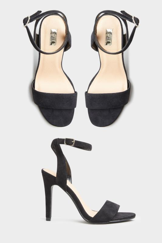LIMITED COLLECTION Black Strappy Two Part Heels In Extra Wide Fit_split.jpg