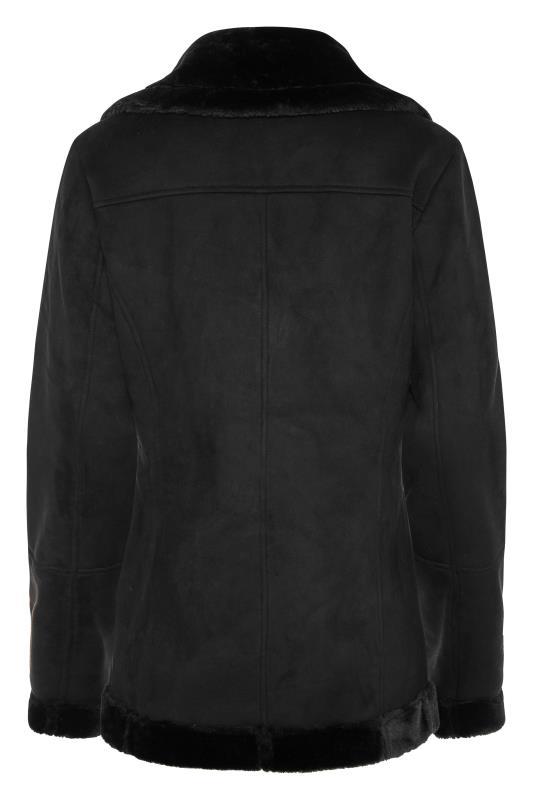 LTS Black Faux Fur Trim Aviator Jacket_BK.jpg