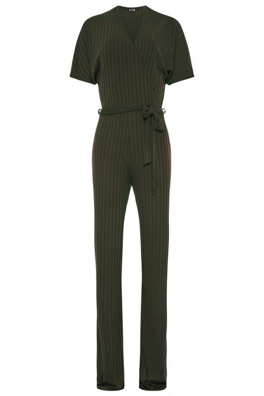 LTS Khaki Ribbed Wrap Jumpsuit_F.jpg