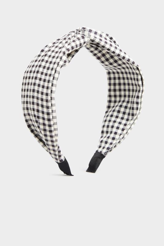 Black Gingham Twist Headband_F.jpg