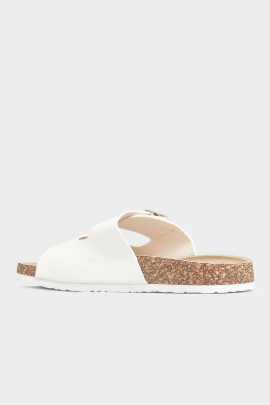 White Buckle Strap Footbed Sandals In Extra Wide Fit_C.jpg