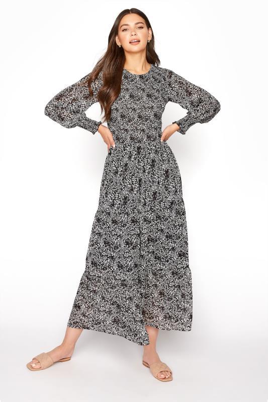 LTS Black Ditsy Long Sleeve Tiered Midi Dress_A.jpg