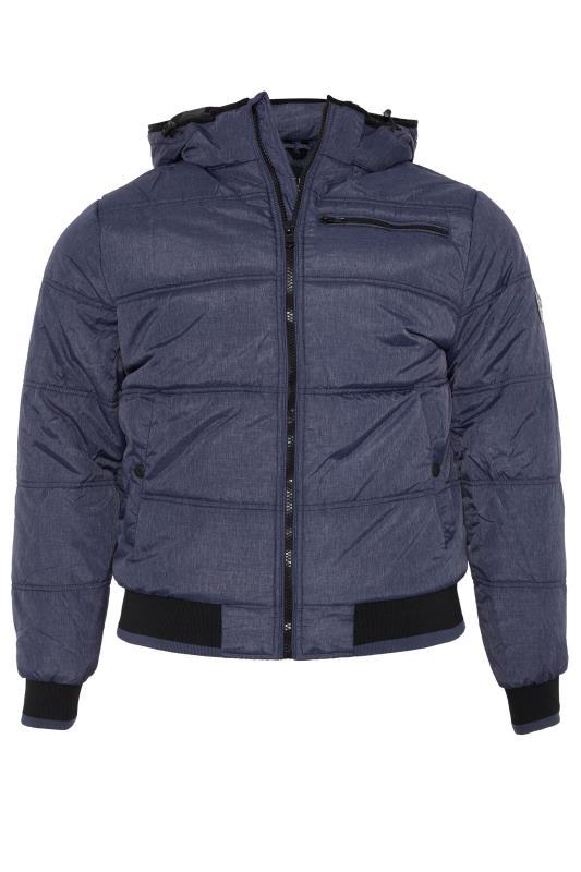 Plus Size  BLEND Navy Padded Jacket
