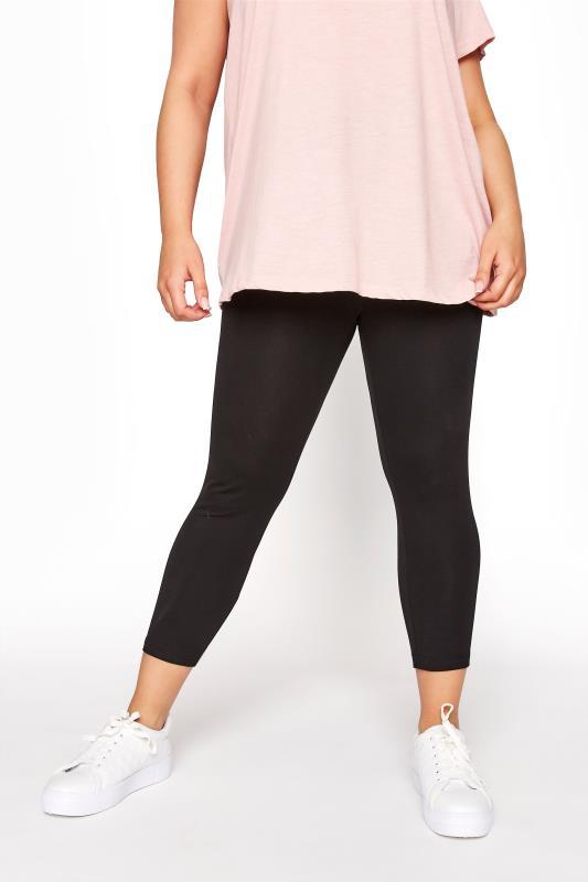 Black Cotton Essential Cropped Leggings_B.jpg