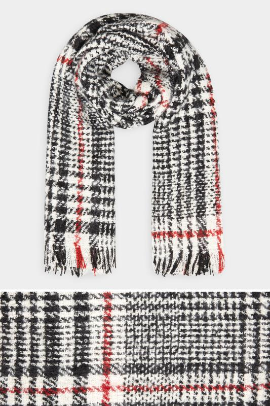 Yours Mono Boucle Check Scarf