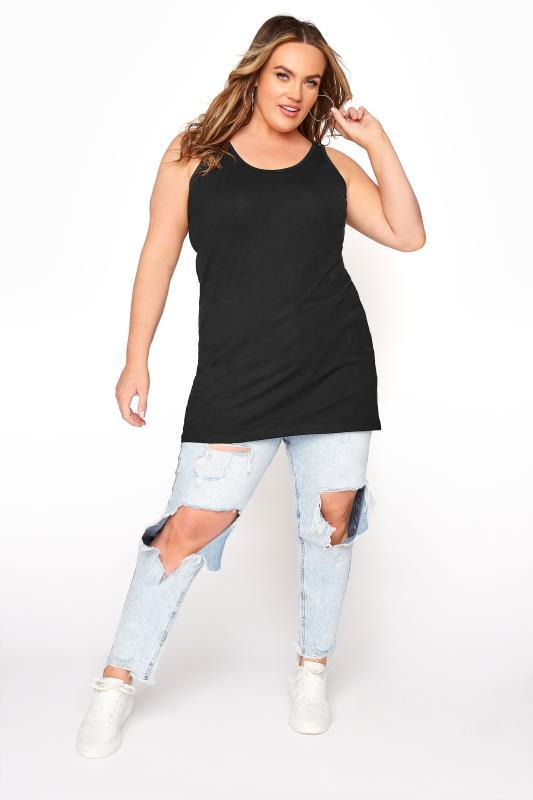Jersey-Trägerhemd - Schwarz