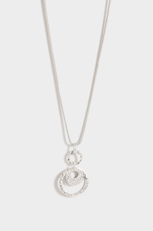 Silver Hammered Disc Long Necklace_A.jpg