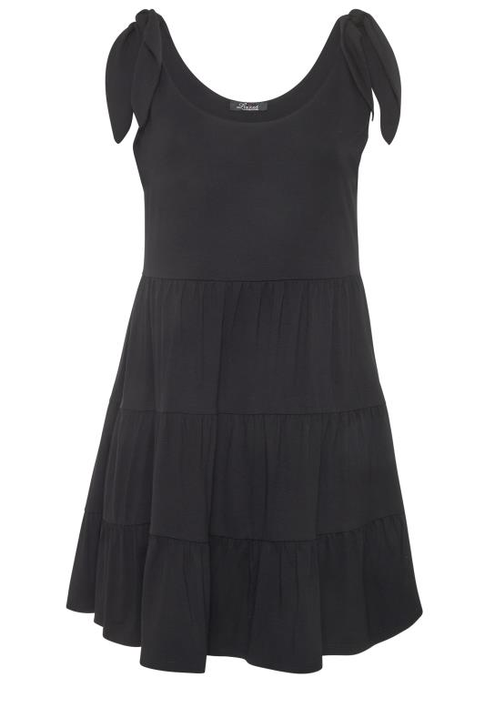 LIMITED COLLECTION Black Tiered Jersey Dress_f.jpg
