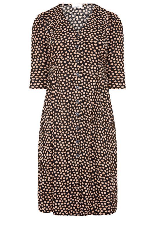YOURS LONDON Black Spot Button Dress_F.jpg
