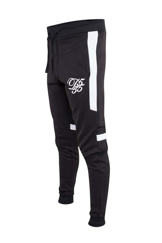 Plus Size Casual / Every Day D555 Couture Black Panelled Joggers