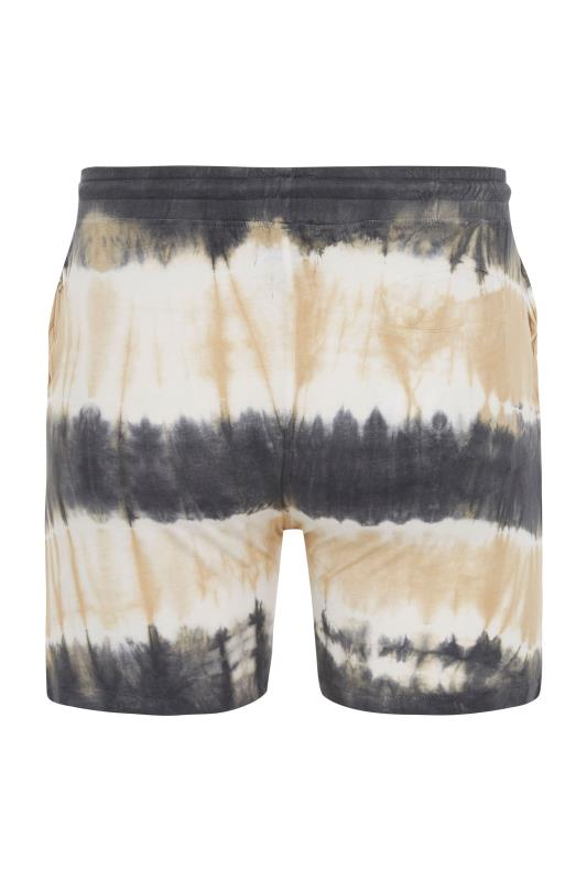 ANOTHER INFLUENCE Charcoal Tie Dye Jogger Shorts_BK.jpg