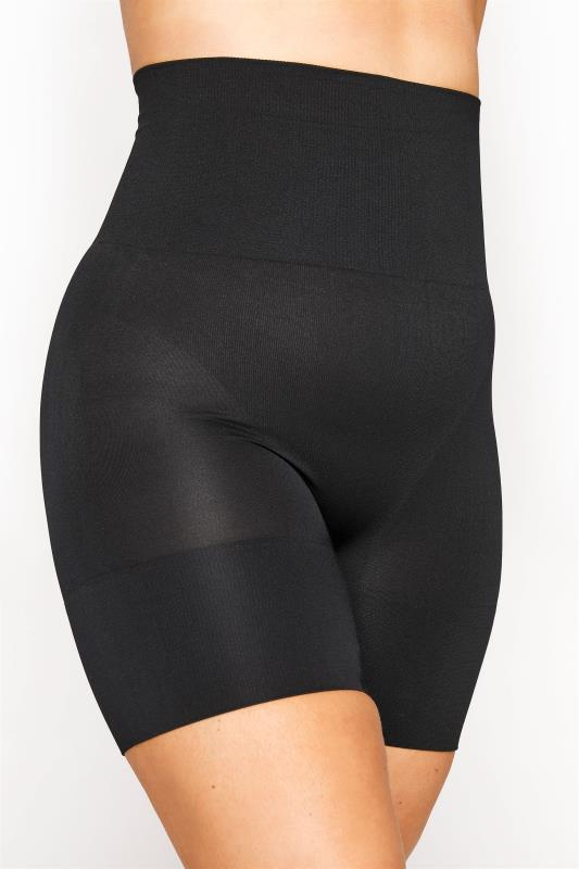Plus Size  Black Firm Control Seamless Shorts