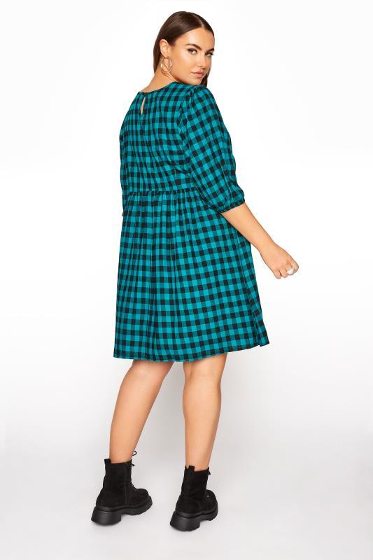 Teal Gingham Peplum Dress_C.jpg