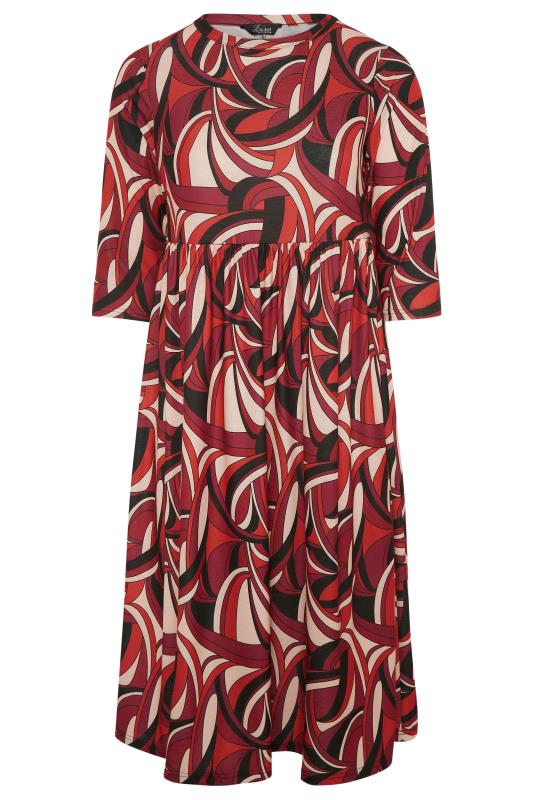 LIMITED COLLECTION Red Abstract Print Midaxi Dress_F.jpg