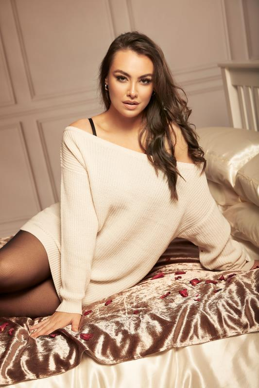 Cream Bardot Knitted Jumper_L.jpg