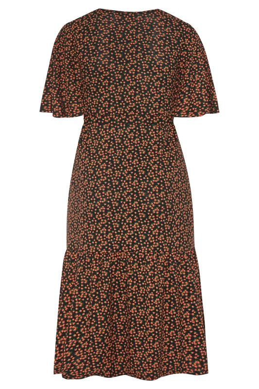 LIMITED COLLECTION Black Floral Print Tiered Maxi Smock Dress