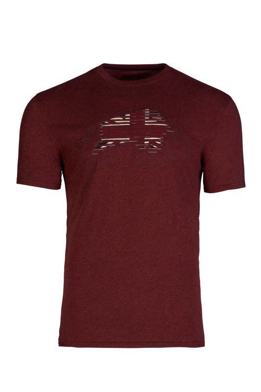 Grande Taille RAGING BULL Red Slash Bull T-Shirt
