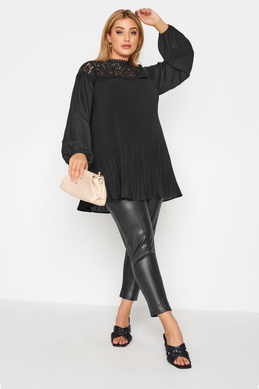 YOURS LONDON Black Lace Pleat Tunic_B.jpg