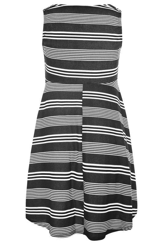 Black Stripe Wrap Skater Dress_BK.jpg