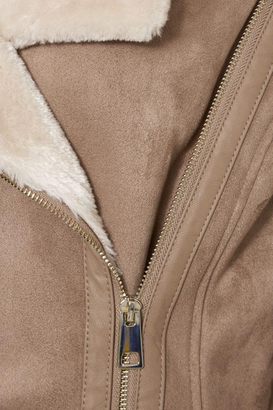 LTS Natural Faux Fur Trim Aviator Jacket_S.jpg